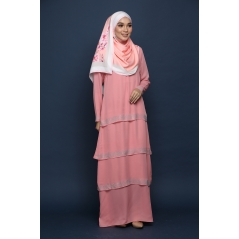 AUDREA DRESS in PINK SALMON
